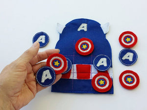 Captain American Tic Tac Toe Board + Pieces