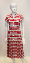 Load image into Gallery viewer, A Vintage 1940s stripe button up Day Dress