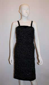 Vintage Black Worth Cocktail Dress
