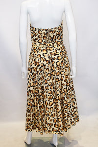 A Vintage 1960s Polly Peck Animal Print Dress and Matching Scarf
