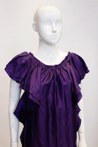 A Lanvin 2008 Purple Silk evening Dress