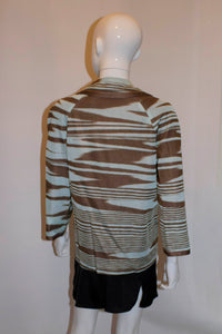 Missoni Brown Label, Sky Blue and Brown Jacket