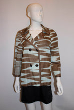 Load image into Gallery viewer, Missoni Brown Label, Sky Blue and Brown Jacket