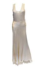 Load image into Gallery viewer, A Vintage 1930s Ivory Net and Satin Slip Dress