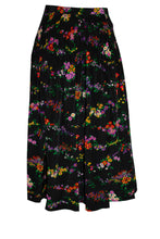 Load image into Gallery viewer, Vintage Yves Saint Laurent Rive Gauche Floral Pleated Skirt