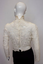 Load image into Gallery viewer, A Vintage edwardian white Ribbon Work Top blouse