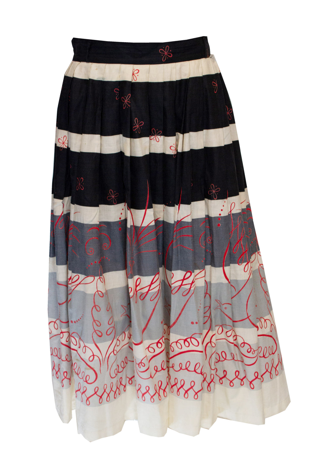 A Vintage 1950s Cruise Cotton summer Skirt