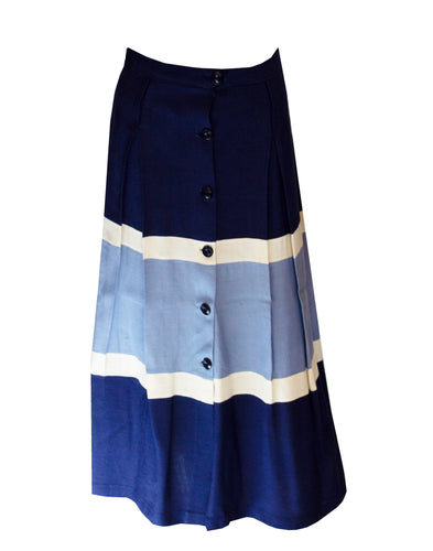 A vintage 1950s navy stripe summer skirt