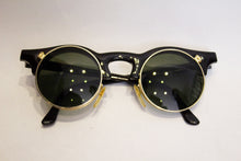 Load image into Gallery viewer, A pair of 1980s black linda farrow sunglasses