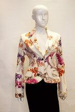 Load image into Gallery viewer, A vintage roberto  1980s Cavalli Floral Cotton Jacket
