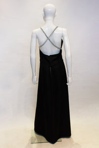 A vintage 1970s black Chic Evening Skirt and Top