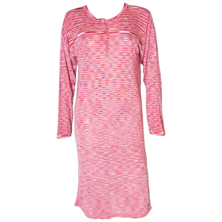 A Vintage 1990s Missoni red knitted day dress