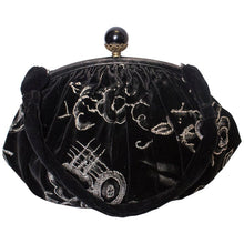 Load image into Gallery viewer, Vintage Black Velvet Handbag