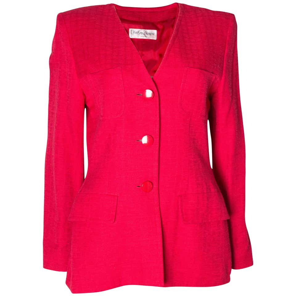 A Vintage 1970s Yves Saint Laurent Red Jacket