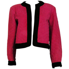 Load image into Gallery viewer, A Vintage 1970s - 1980s Yves Saint Laurent Rive Gauche pink Suede bomber Jacket