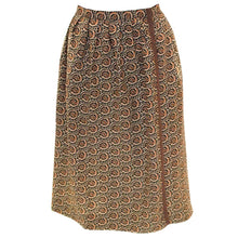 Load image into Gallery viewer, A Vintage 1970s Yves Saint Laurent Rive Gauche autumnal Wrap Over Skirt