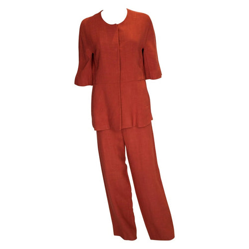 Marni Burnt Orange Trouser Suit