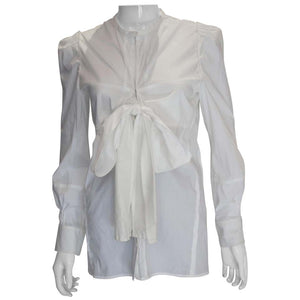 A White Cotton Shirt by Yves Saint Laurent Rive Gauche