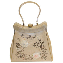 Load image into Gallery viewer, Vintage Rialto New York Silk Embroidered Plastic Overlay Bag with Bakelite Handle