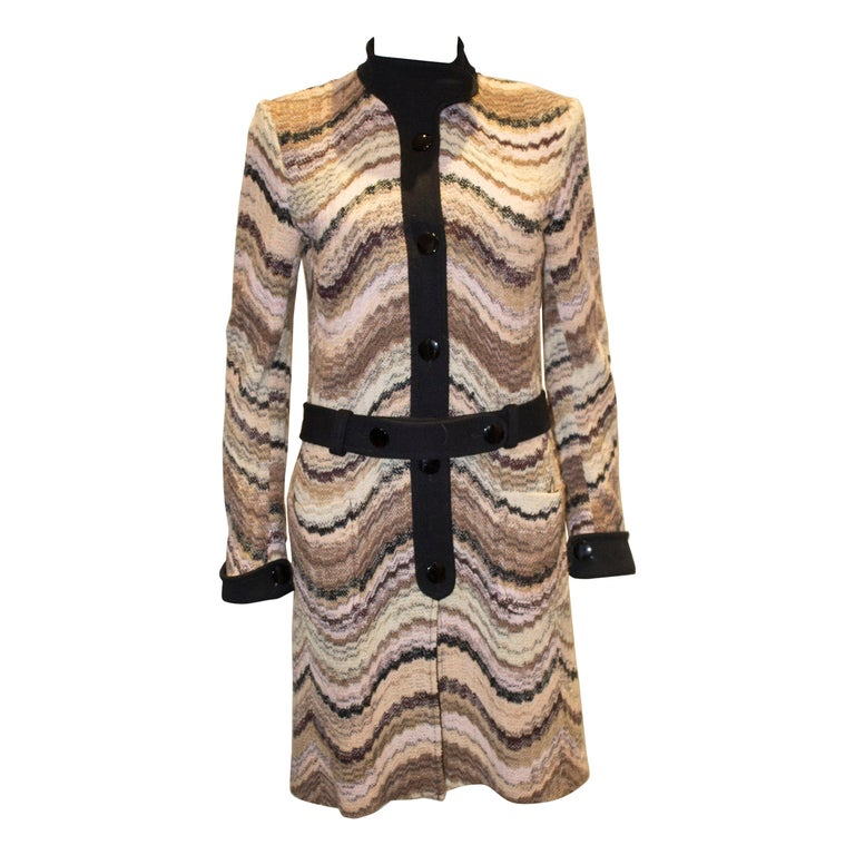 A Vintage 1990s Missoni autumanl Brown Label Coat Dress