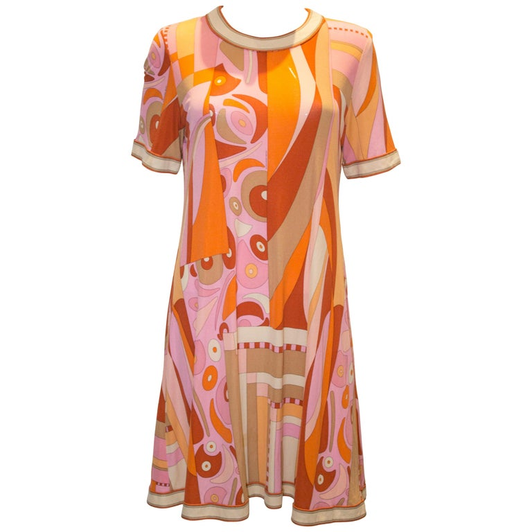 A Vintage 1960s Averardo Bessi printed Silk Jersey Dress