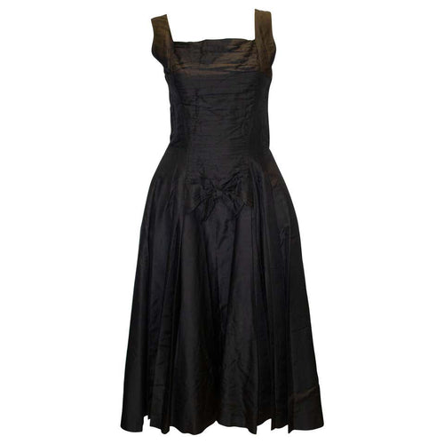 A Vintage 1950s Suzy Perette Black Cocktail Dress