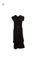 Load image into Gallery viewer, 1940s Black Cocktail Dress with Cap Sleaves