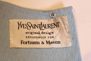 A vintage 1970s pale blue dress by Yves Saint Laurent for Fortnum and Mason
