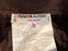 Load image into Gallery viewer, A Vintage 1970s yves saint YSL Rive Gauche brown high waisted Skirt