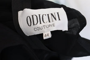 Vintage Odiccini Couture Silk, Sequi and Beaded Evening Gown