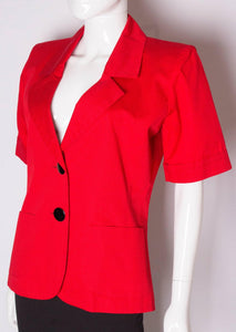 Vintage Yves Saint Laurent Red Jacket
