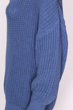 Load image into Gallery viewer, Vintage 1980s Jean Muir Blue Jumper