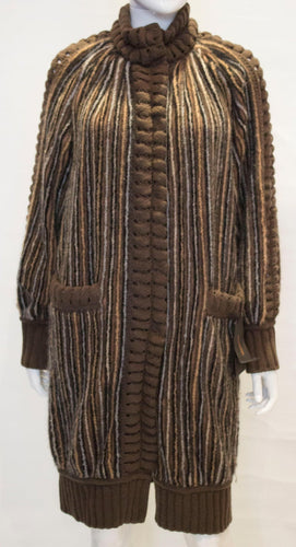 A Missoni Brown Label autumnal Wool Coat