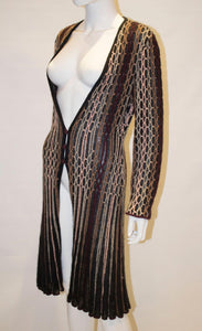 Vintage Missoni Brown Label Cardigan Jacket