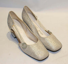 Load image into Gallery viewer, A Vintage 1960s Silver Shoes by Starlight Room