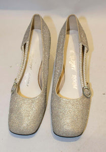 A Vintage 1960s Silver Shoes by Starlight Room