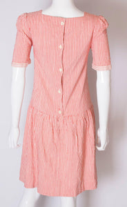 A Vintage 1990s stripe cotton summer day dress by Gina Fratini