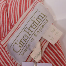 Load image into Gallery viewer, A Vintage 1990s stripe cotton summer day dress by Gina Fratini