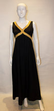 Load image into Gallery viewer, Vintage California Black and Gold Evening Dress
