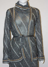 Load image into Gallery viewer, A Vintage 1970s silver Ian Peters Knitted Dress and Jacket