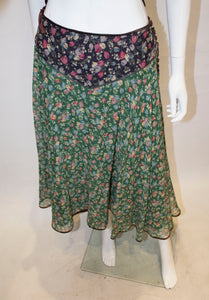 A Vintage 1970s Anna Belinda Floral Skirt and Top