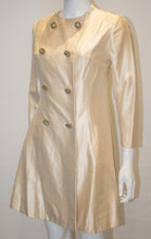 Load image into Gallery viewer, A Vintage 1960s Ivory Raw Silk Coat Dress