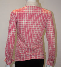 Load image into Gallery viewer, A Vintage 1960s Nina Ricci Red and White logo button up Shirt