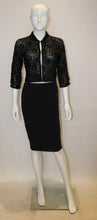 Load image into Gallery viewer, A Vintage 1960s Black Beaded Evening Jacket