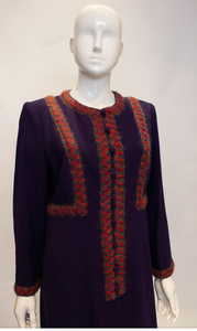 A Vintage 1980s Donald Campbell Wool Crepe Dress