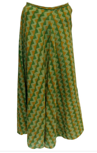 A Vintage 1970s autumnal Fabindia Cotton Skirt