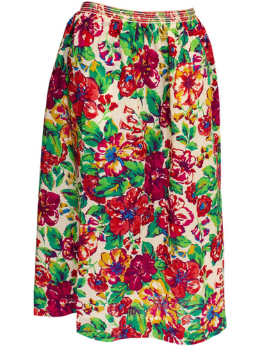 A Vintage 1970s Liberty floral Print Wool Skirt