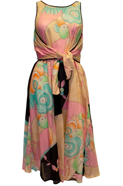 A Vintage 1970s Multi Colour Dress by Weil Paris