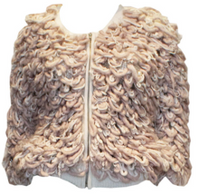 Load image into Gallery viewer, A Vintage 1980s Pink and Cream Cardigan with Pearl and Diamante Detail
