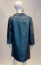 Load image into Gallery viewer, A Vintage dusty blue 1960s Silk Coat and Dress